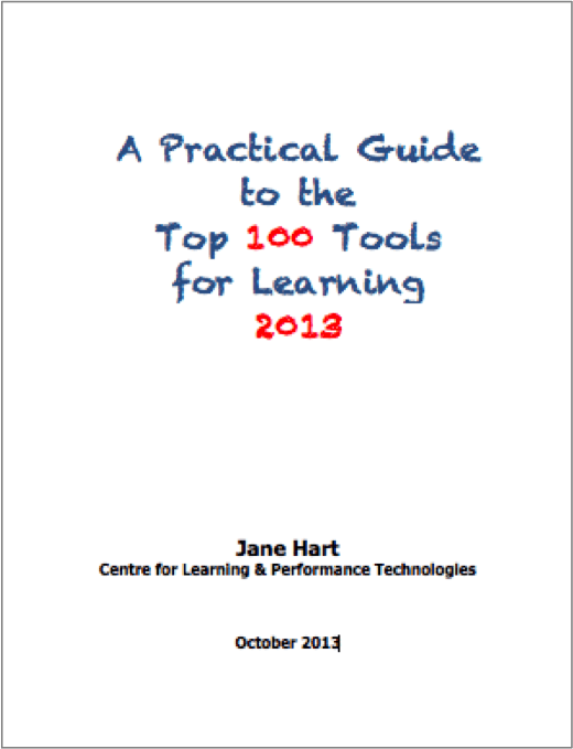 Here it is: The Top 100 Tools for Learning 2013 thumbnail