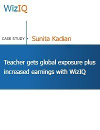 Teacher gets global exposure plus increased earnings with WizIQ thumbnail
