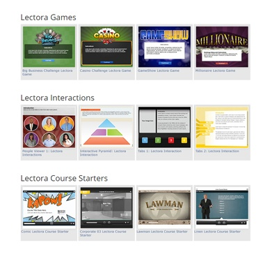 126 eLearning Templates for Lectora Online V2.0 thumbnail