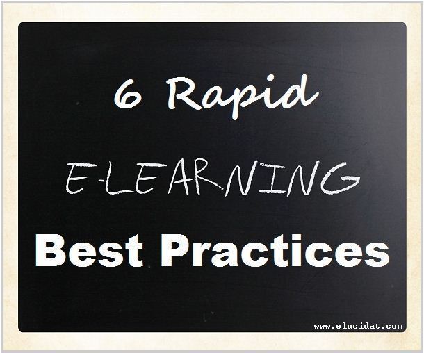6 Rapid E-learning Best Practices | Elucidat elearning authoring software thumbnail