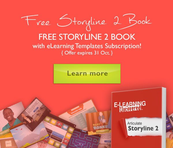 FREE Articulate Storyline 2 Book with eLearning Templates Subscription thumbnail