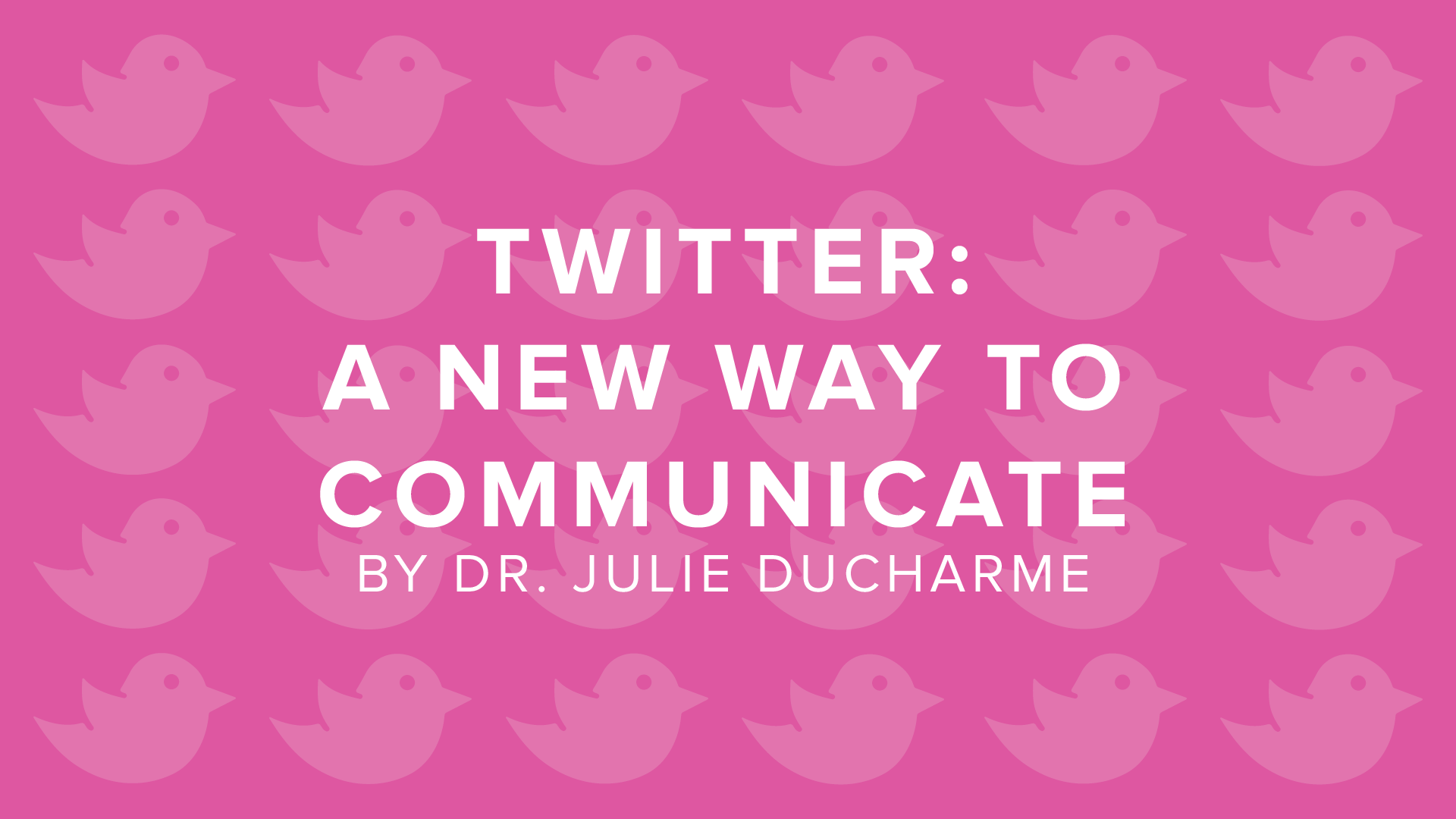 Twitter: A New Way to Communicate with Your Students | DigitalChalk Blog thumbnail