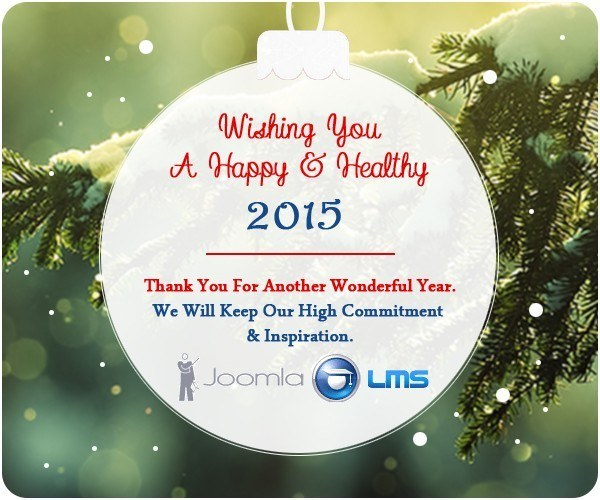 JoomlaLMS Wishes Merry Christmas and Happy New Year! thumbnail