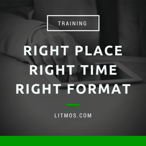 Training: Right Place, Right Time, Right Format thumbnail