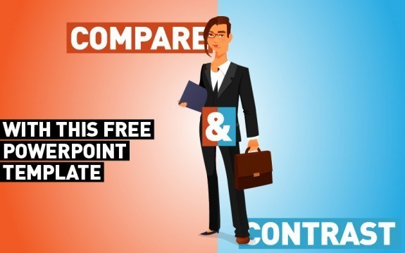 Compare and Contrast with this Free PowerPoint Template thumbnail