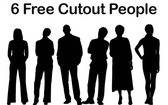 6 Free Cutout People - eLearning Brothers thumbnail