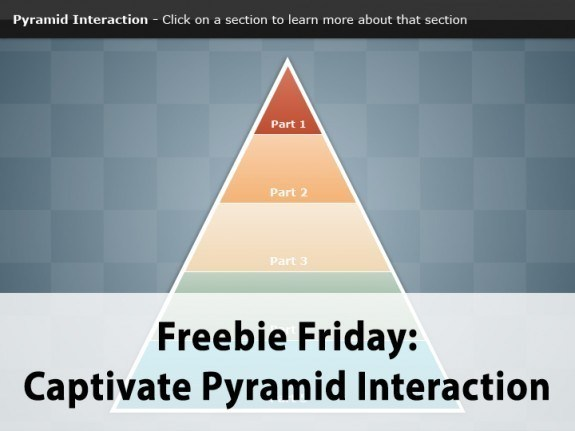 Freebie Friday: Free Captivate Pyramid Interaction - eLearning Brothers thumbnail