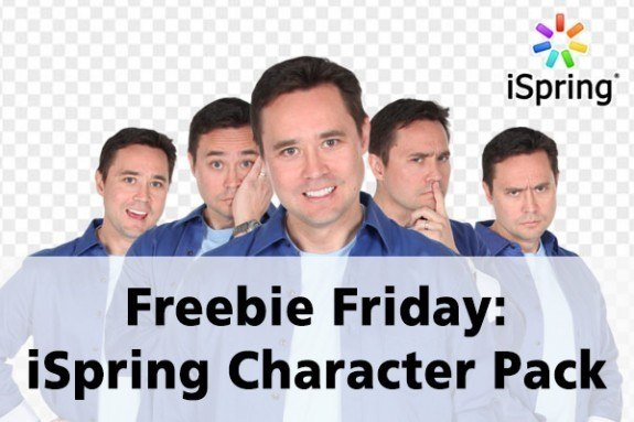 Freebie Friday: iSpring Character Pack - eLearning Brothers thumbnail