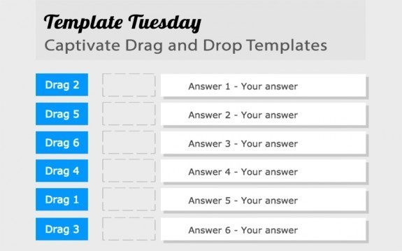 Template Tuesday: Captivate Drag and Drop Templates » eLearning Brothers thumbnail