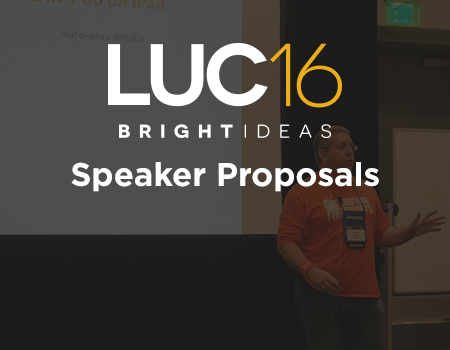 Want to attend the LUC 2016 for free? Be a speaker! - Trivantis Community thumbnail