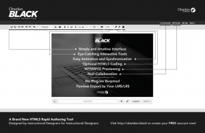 Rapid eLearning Authoring Tool Obsidian Black - Better Than Ever - eLearning Industry thumbnail