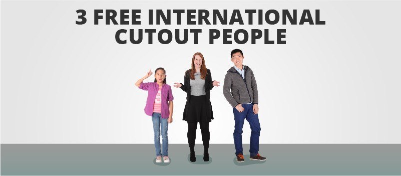 3 Free International Cutout People » eLearning Brothers thumbnail