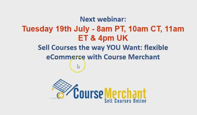[Webinar] Sell Courses the way YOU Want with Course Merchant thumbnail