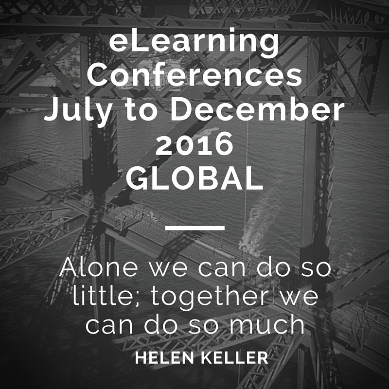 Elearning Conferences listing: July – December 2016 AND BEYOND… thumbnail