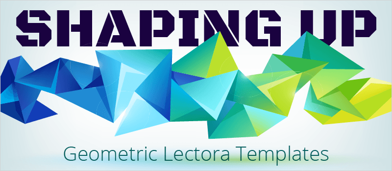 Shaping Up: Geometric Lectora Templates » eLearning Brothers thumbnail