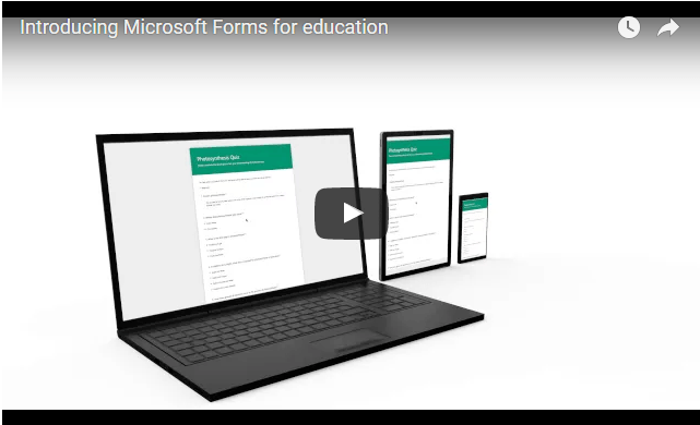 Using Office 365 Forms in Education to create Quizzes or Surveys thumbnail