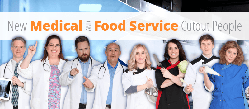 New Medical and Food Service Cutout People | eLearning Brothers thumbnail