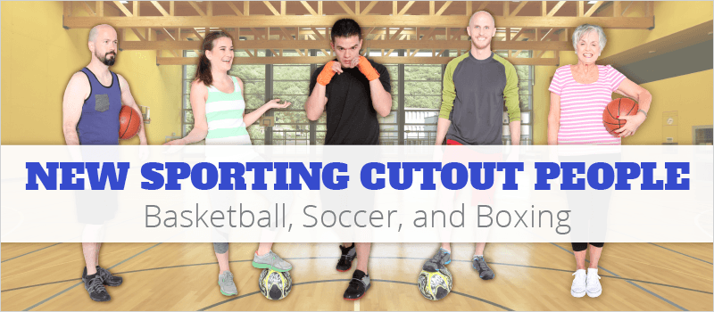 New Sporting Cutout People: Basketball, Soccer, and Boxing | eLearning Brothers thumbnail