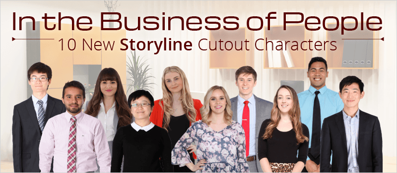 In the Business of People: 10 New Storyline Cutout Characters | eLearning Brothers thumbnail