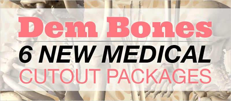 Dem Bones: 6 New Medical Cutout Packages | eLearning Brothers thumbnail