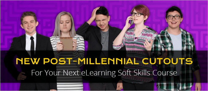 New Post-Millennial Cutouts For Your Next eLearning Soft Skills Course | eLearning Brothers thumbnail