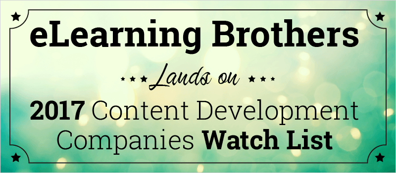 eLB Lands on 2017 Content Development Companies Watch List | eLearning Brothers thumbnail