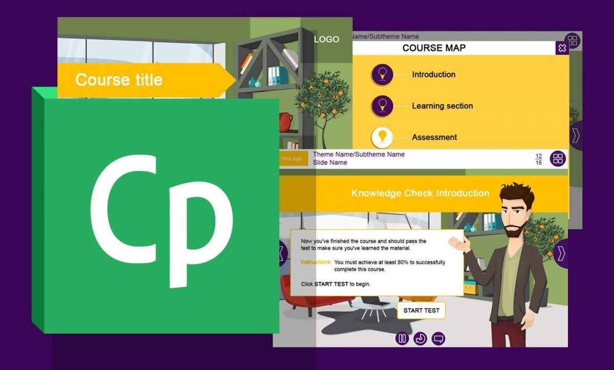 New Adobe Captivate Course Starter Template with Office Interior Background - Technomatix thumbnail