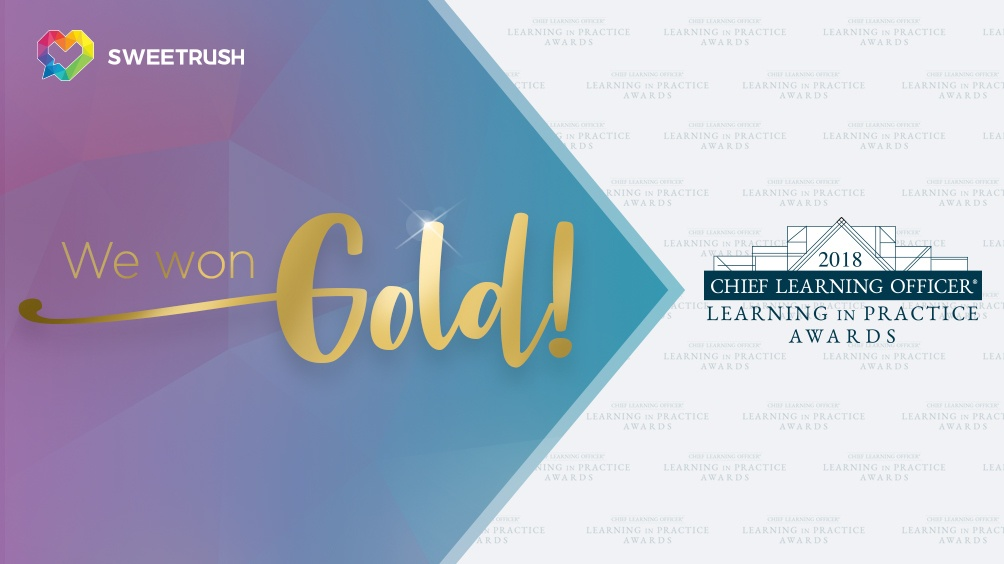 SweetRush Wins Gold For VR At The 2018 CLO Learning In Practice Awards